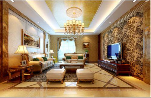 新古典风格别墅客厅装修效果图欣赏