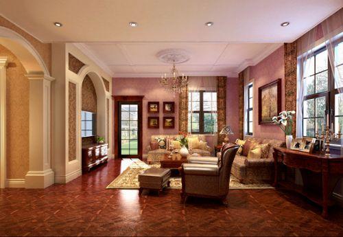 西式古典六居室以上客厅走廊装修效果图大全