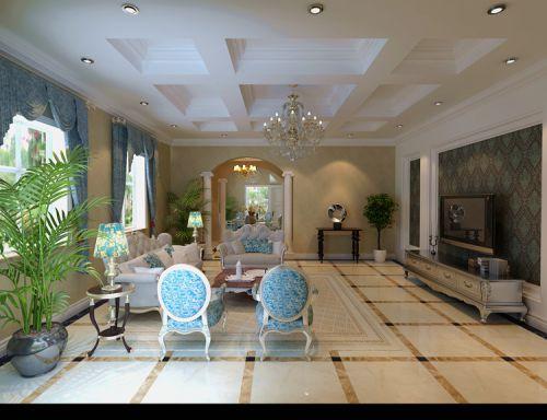 新古典风格五居室客厅飘窗装修效果图欣赏
