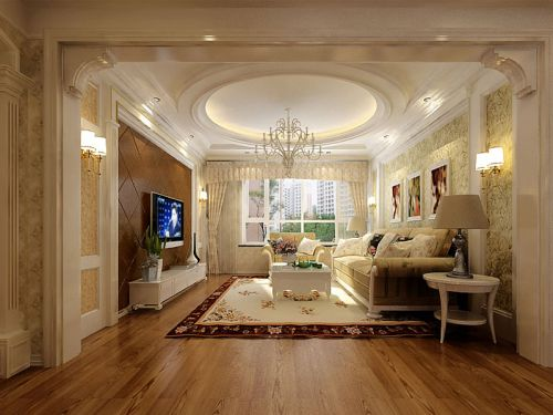 西式古典二居室客厅装修效果图欣赏