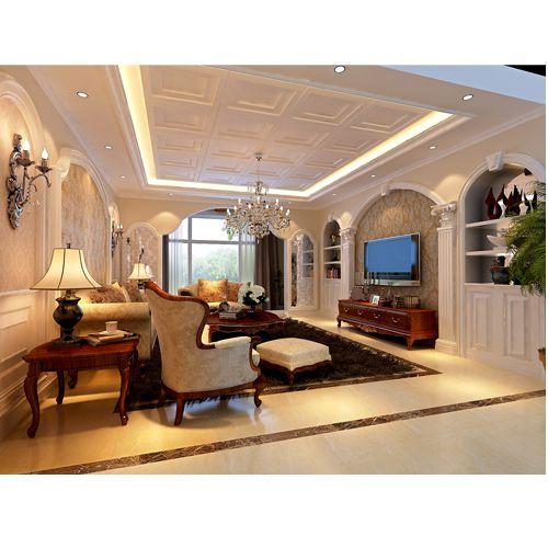 西式古典四居室客厅装修图片