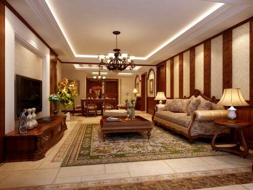 西式古典三居室客厅装修图片欣赏