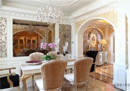 西式古典四居室客厅沙发装修效果图