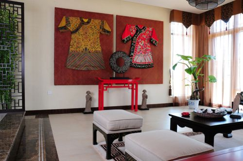 新古典别墅客厅装修图片