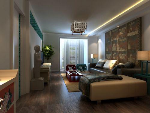 中式古典别墅客厅吊顶装修效果图