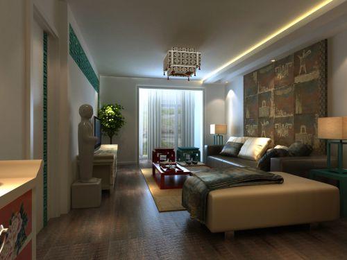 中式古典别墅客厅婴儿床装修图片