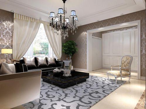西式古典五居室客厅装修效果图欣赏