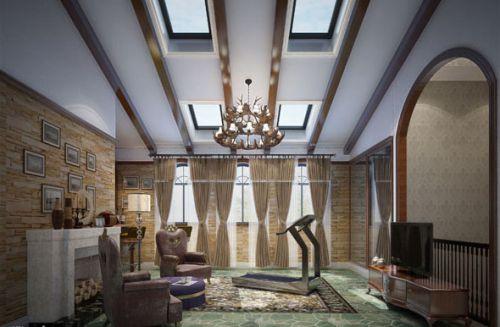 新古典风格五居室客厅电视柜装修效果图欣赏