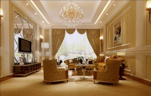 西式古典别墅客厅沙发装修图片