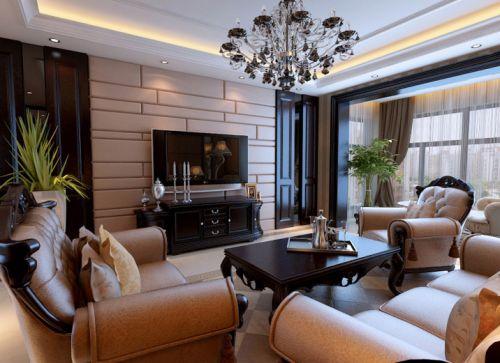欧式新古典三居室客厅装修效果图欣赏