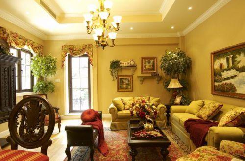 西式古典别墅客厅楼梯装修效果图欣赏