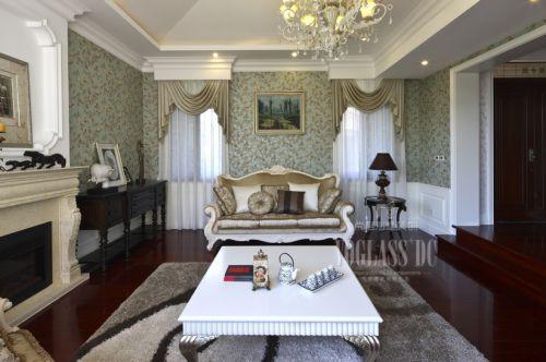 美式新古典别墅客厅装修效果图