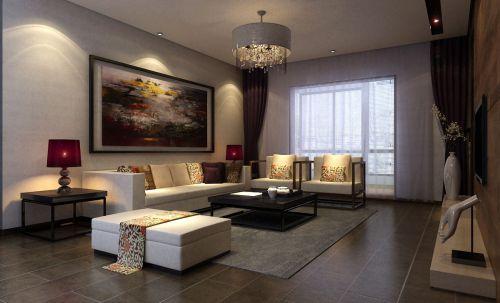 中式古典五居室客厅装修效果图