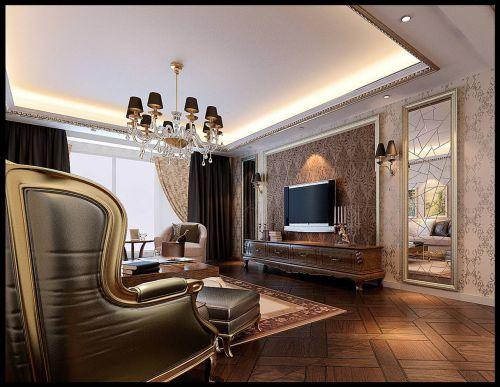 西式古典三居室客厅装修图片