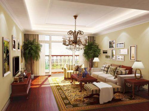 新古典四居室客厅装修效果图欣赏