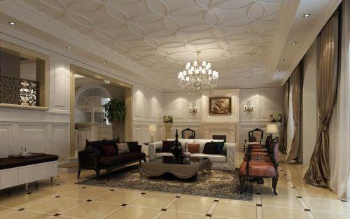法式古典别墅客厅装修图片欣赏