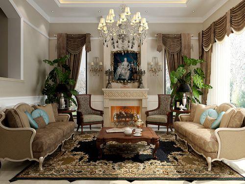 西式古典六居室客厅装修图片欣赏