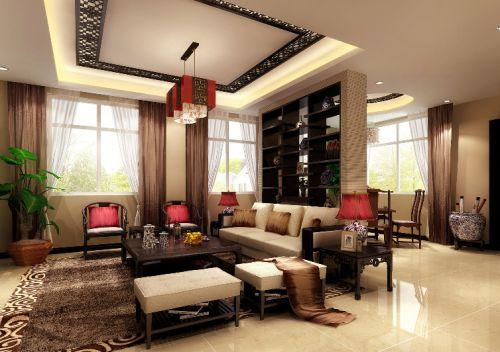 中式古典二居室客厅装修图片欣赏