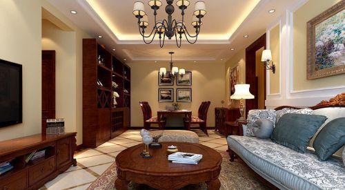 新古典风格三居室客厅沙发装修效果图