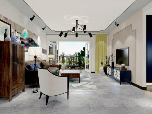 中式古典四居室客厅吊顶装修效果图欣赏
