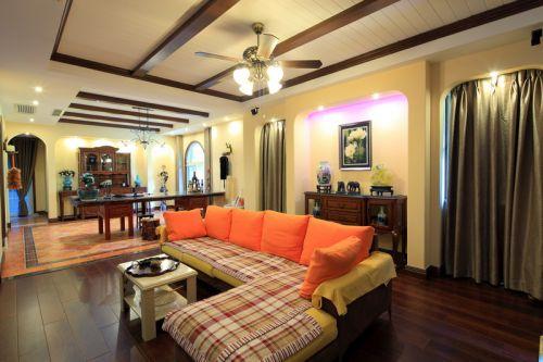 新古典风格三居室客厅飘窗装修图片