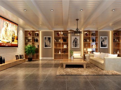 新古典风格六居室客厅吊顶装修图片