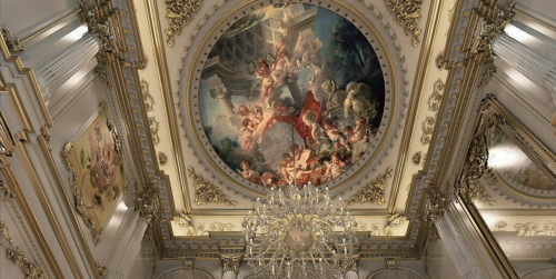 西式古典四居室客厅照片墙装修图片