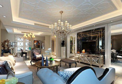 新古典风格五居室客厅沙发装修效果图欣赏