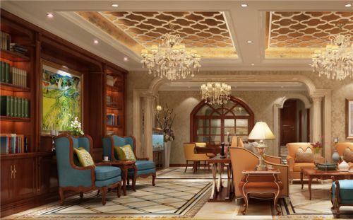 新古典风格六居室客厅飘窗装修效果图欣赏