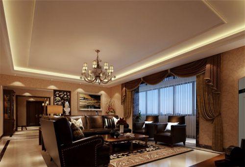 新古典风格五居室客厅吧台装修图片