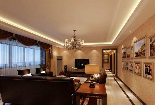 新古典风格五居室客厅影视墙装修图片