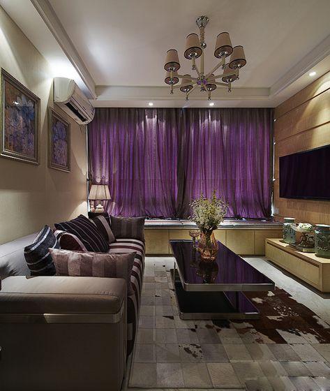 新古典风格二居室客厅飘窗装修图片