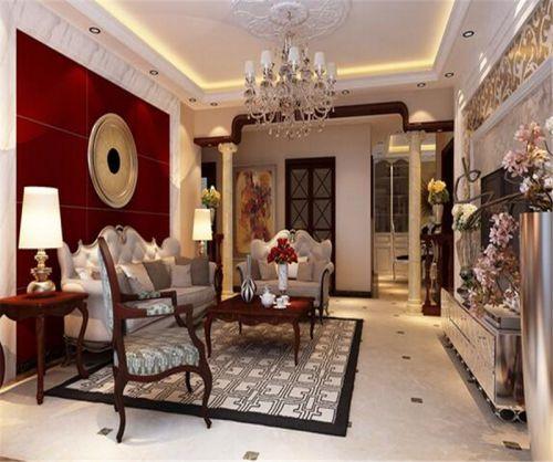 新古典风格三居室客厅吊顶装修效果图大全