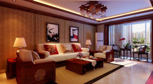 新古典风格三居室客厅飘窗装修效果图