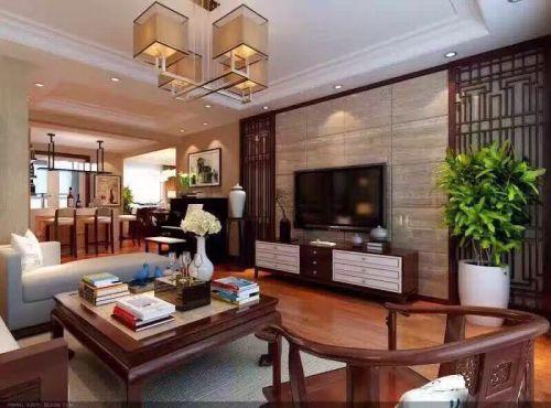 中式古典三居室客厅沙发装修效果图欣赏