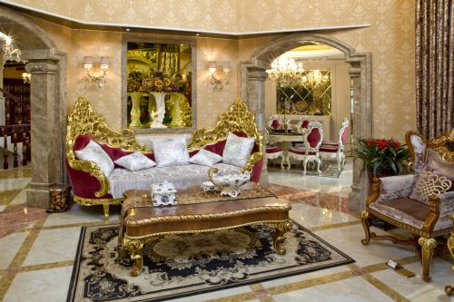 新古典风格五居室客厅沙发装修效果图