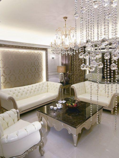 新古典风格二居室客厅茶几装修效果图
