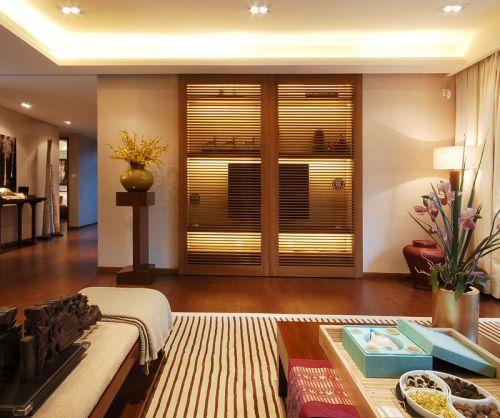 中式古典风格客厅电视背景墙装修效果图