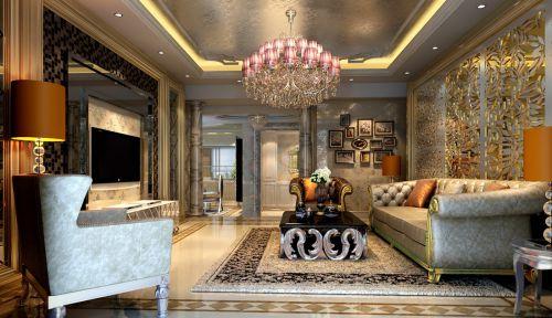 160平米新古典风格客厅三居室装修样板间