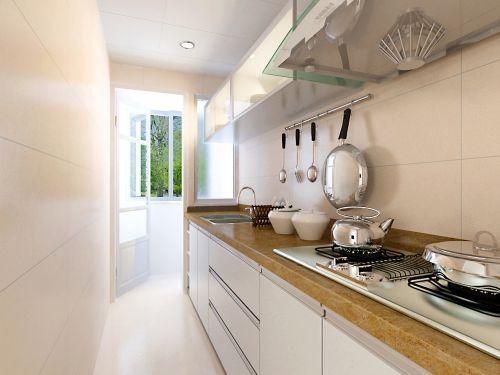 现代简约一居室厨房橱柜装修效果图欣赏