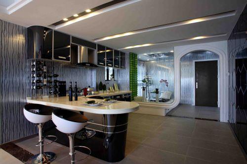 现代风格餐厅吧台装修效果图