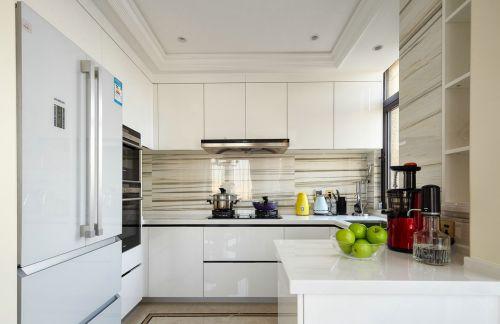 白色纯净现代简约风格厨房装修设计