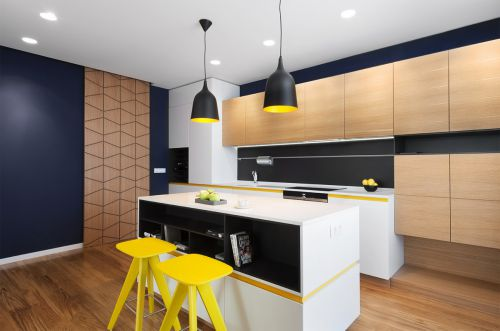 时尚个性现代风格厨房装修实景图