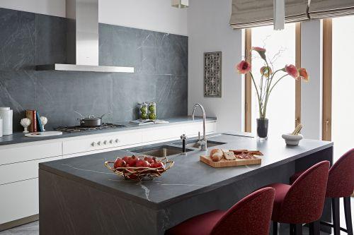 灰色气质现代风格厨房装修实景图