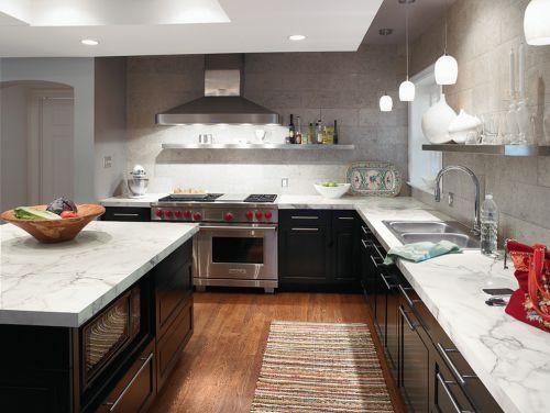 宽敞洁净现代简约风格厨房装修实景图