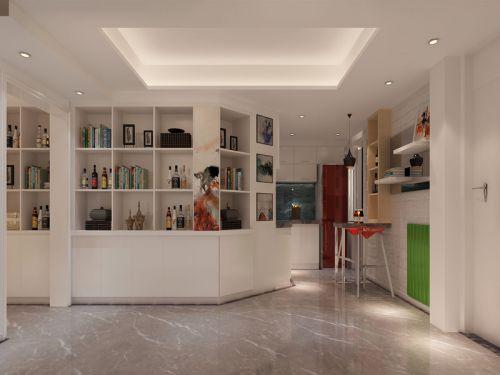 现代简约三居室厨房灯具装修效果图欣赏