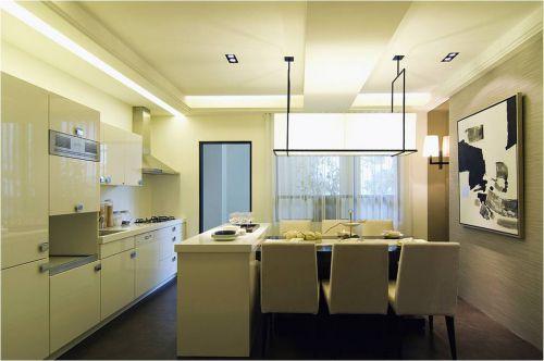 现代简约一居室厨房吧台装修效果图大全