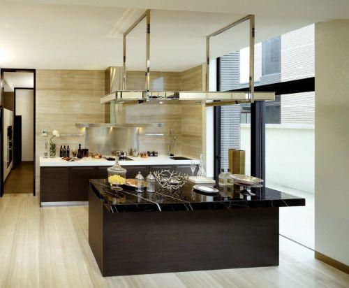 咖啡色时尚创意现代简约风格厨房装修效果图