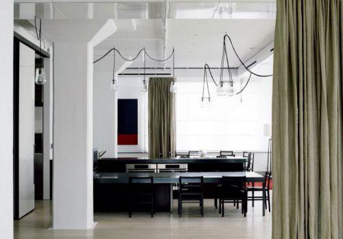 150平公寓现代简约风格敞开式厨房装修图