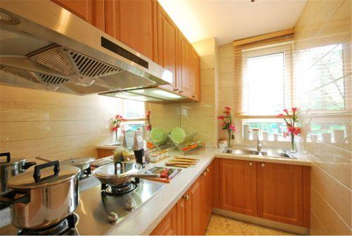 现代简约三居室厨房装修图片